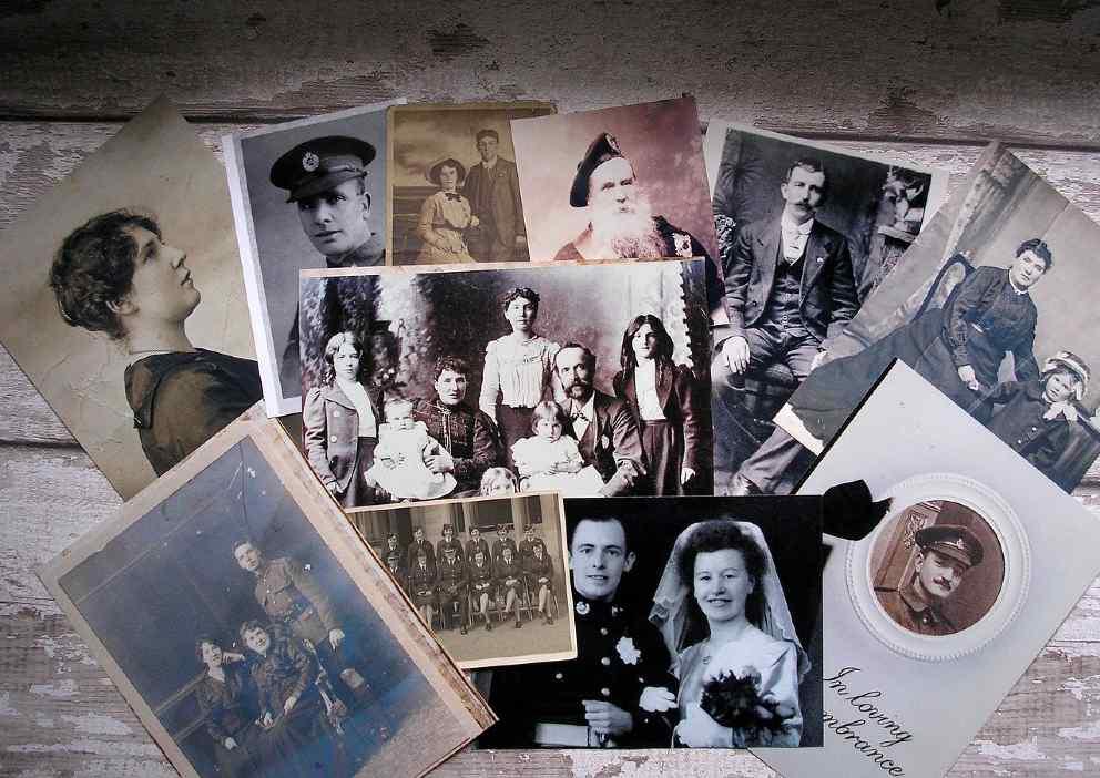 Taller de biodescodificación - Fotografías antiguas en blanco y negro - imágenes de ancestros